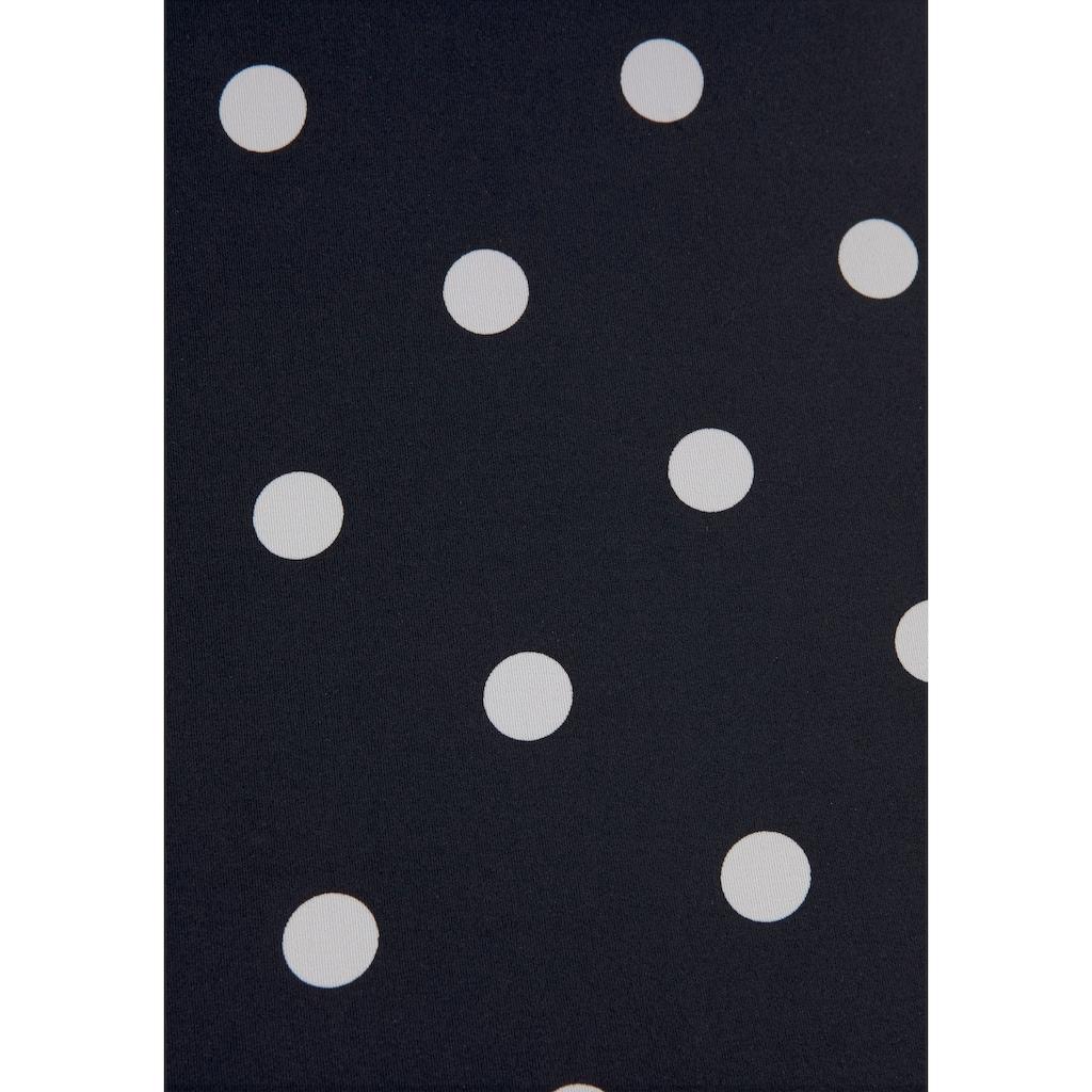 LASCANA Badeanzug »Jada«, mit Punkten und Muschelkante