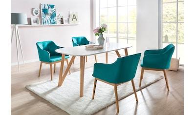 SalesFever Essgruppe, (Set, 5 tlg.), bestehend aus 4 modernen Polsterstühlen und einem 180 cm breitem Tisch kaufen