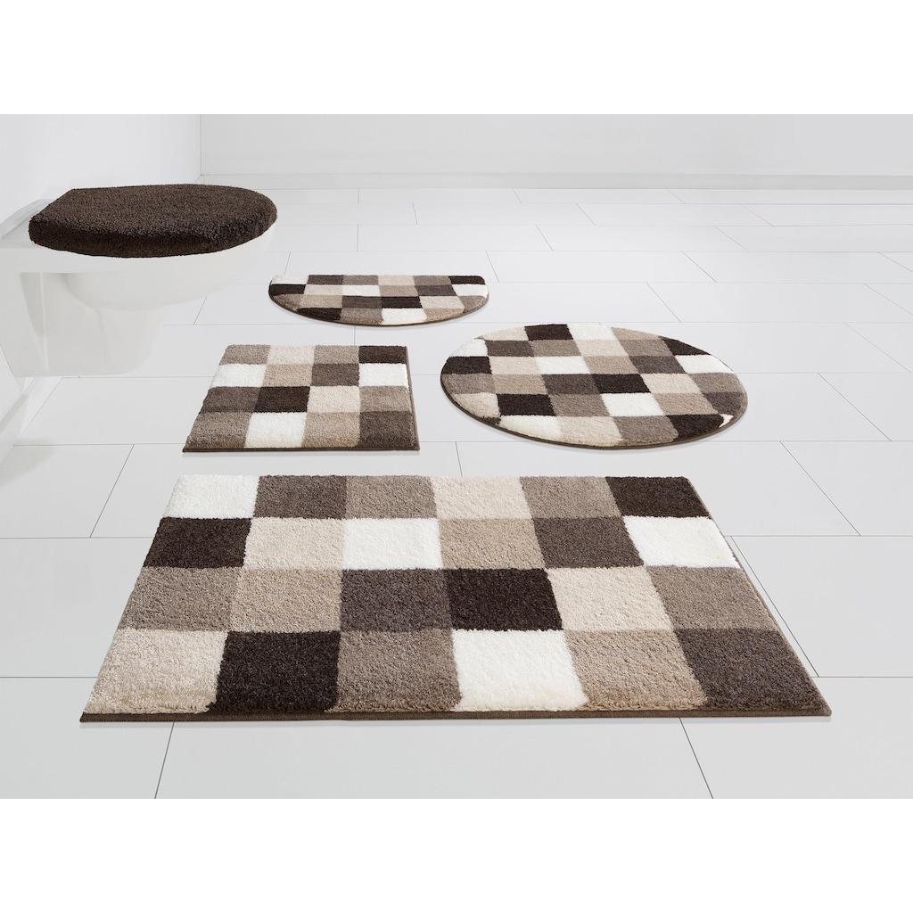 GRUND exklusiv Badematte »Mosaik«, Höhe 20 mm, rutschhemmend beschichtet, fußbodenheizungsgeeignet
