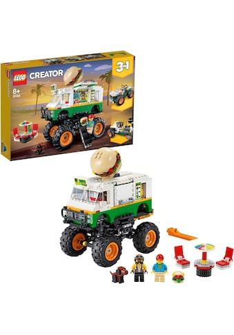"""LEGO® Konstruktionsspielsteine """"Burger - Monster - Truck (31104), LEGO® Creator"""", Kunststoff, (499 - tlg.) kaufen"""