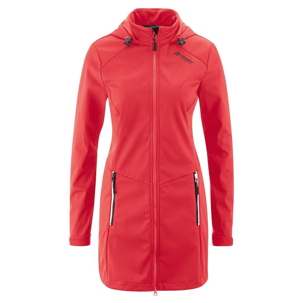 Maier Sports Softshelljacke »Selina«, Sportlicher Softshell-Mantel für Wandern und Freizeit