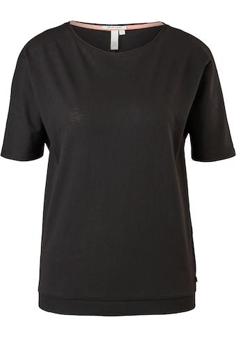 Q/S designed by T-Shirt, mit besonderem Ripp-Saum kaufen