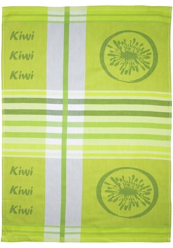 stuco Geschirrtuch »Summer Fruits Kiwi«, (Set, 3 tlg., 1x Geschirrtuch mit... kaufen