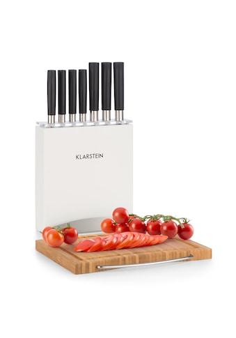 Klarstein Messer-Set 9 tlg. Holzblock Bambus-Schneidebrett kaufen