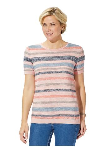 Casual Looks Pullover in leicht melierter Feinstrick - Qualität kaufen