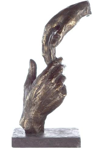 Casablanca by Gilde Dekofigur »Skulptur Two Hands, bronzefarben/grau«, Dekoobjekt,... kaufen