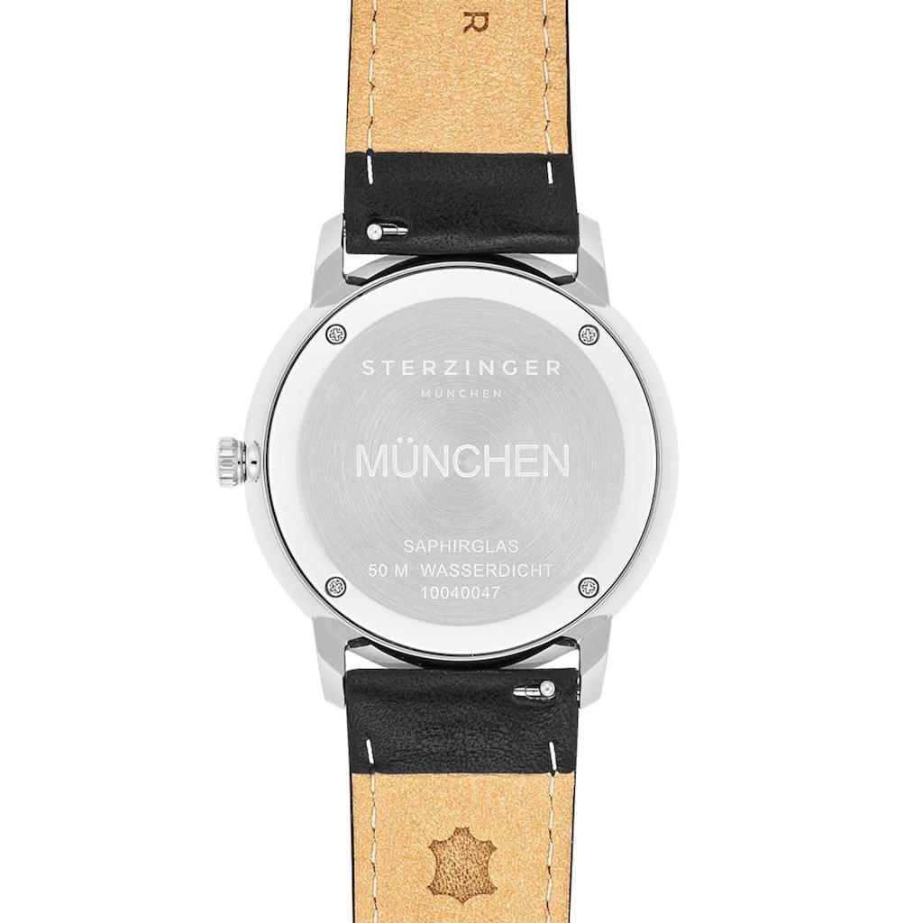 Sterzinger Quarzuhr »SM014«, (1 tlg.), Echtleder-Armband, Made in Italy