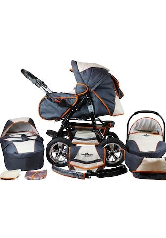 bergsteiger Kombi-Kinderwagen »Milano, beige & grey, 3in1«, 15 kg, Made in Europe;... kaufen