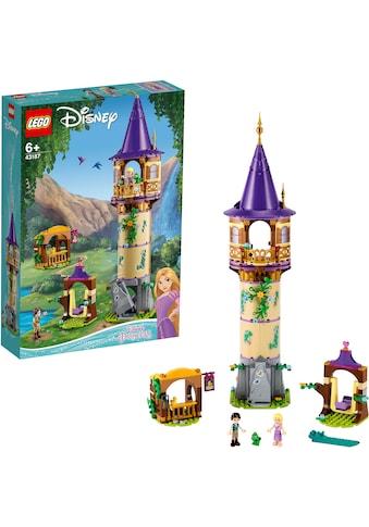 "LEGO® Konstruktionsspielsteine ""Rapunzels Turm (43187), LEGO® Disney Princess™"", Kunststoff, (369 - tlg.) kaufen"
