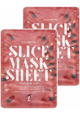 KOCOSTAR Gesichtsmasken-Set »Slice Mask Sheet Watermelon«, (2 tlg.),... kaufen