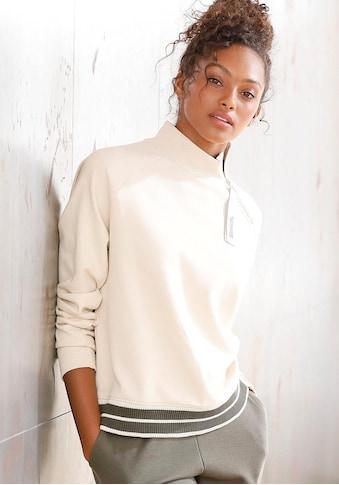 Bench. Sweater, mit Stehkragen und gestreiftem Bund kaufen