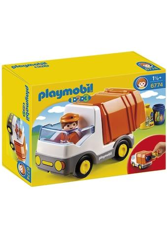 Playmobil® Konstruktions-Spielset »Müllauto (6774), Playmobil 1-2-3«, Made in Europe kaufen