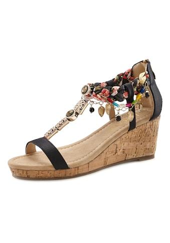 LASCANA Sandalette, mit Keilabsatz und mit modischer Verzierung kaufen