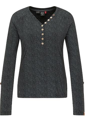 Ragwear Longsleeve »PINCH«, smartes Langarmshirt mit lässiger Knopfleiste kaufen