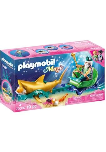 Playmobil® Konstruktions-Spielset »Meereskönig mit Haikutsche (70097), Magic«, Made in Germany kaufen
