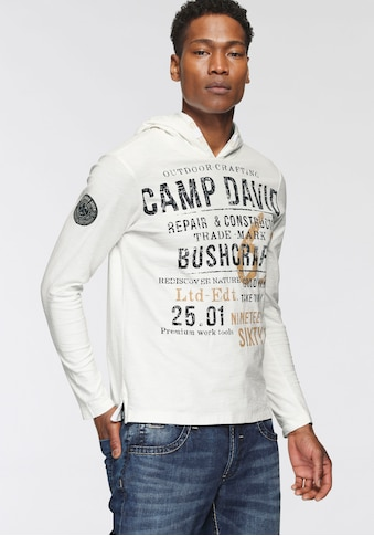 CAMP DAVID Langarmshirt, mit großem Schriftprint kaufen