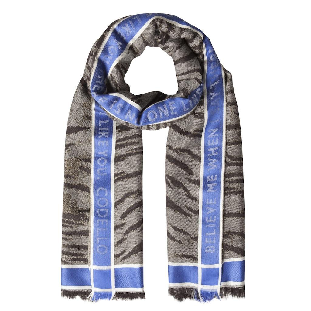"""Codello XL-Schal """"Forever Blue"""" mit Wolle"""