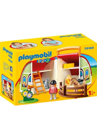 Playmobil® Konstruktions-Spielset »Mein Mitnehm-Reiterhof (70180), Playmobil 1-2-3«,... kaufen