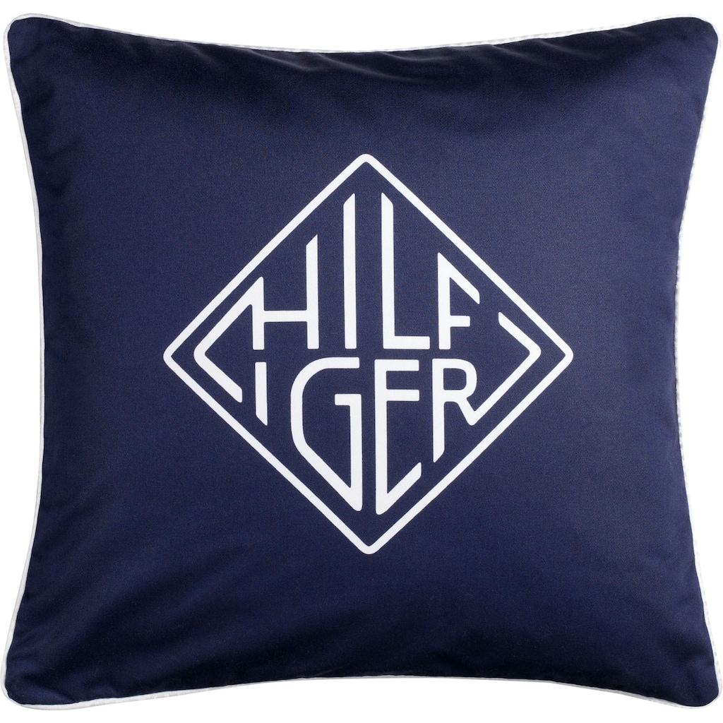 TOMMY HILFIGER Kissenhülle »Sartorial«, (1 St.), mit Hilfiger-Logo und Wendefunktion
