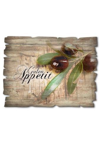 Artland Holzbild »Oliven Guten Appetit« kaufen