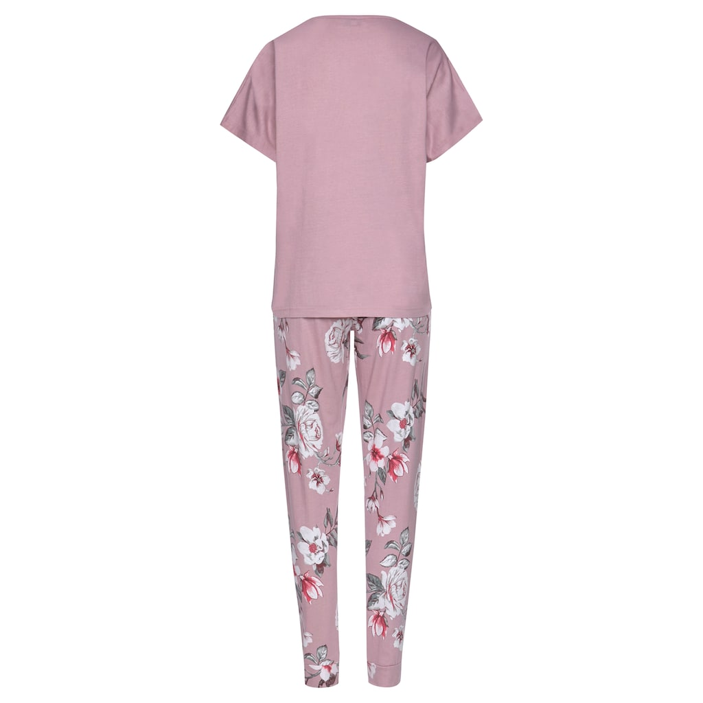 Vivance Dreams Pyjama, mit Blumendruck