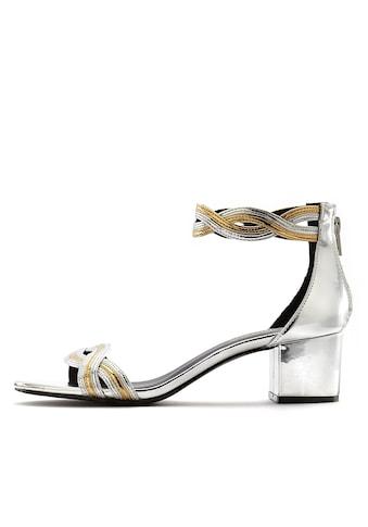 LASCANA Sandalette, mit Blockabsatz in Metallic-Optik kaufen