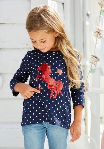 KIDSWORLD Langarmshirt, mit aufwendiger Wendepailletten Appliquation kaufen
