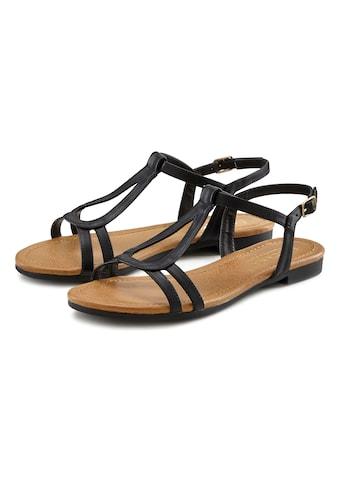 LASCANA Sandale, mit raffinierten Riemchen und im klassischen Design kaufen