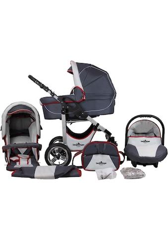 bergsteiger Kombi-Kinderwagen »Capri, grey & red stripes, 3in1«, 15 kg, Made in... kaufen