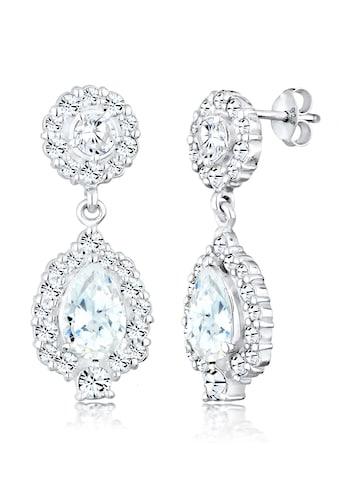 Elli Paar Ohrhänger »Ohrhänger Kristalle Zirkonia 925 Silber« kaufen