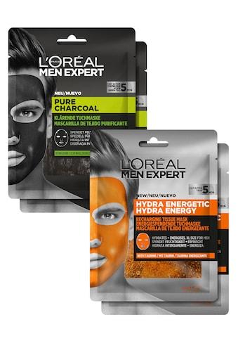 L'ORÉAL PARIS MEN EXPERT Gesichtsmasken-Set »Pure Charcoal und Hydra Energy«, (Set, 4 tlg.) kaufen