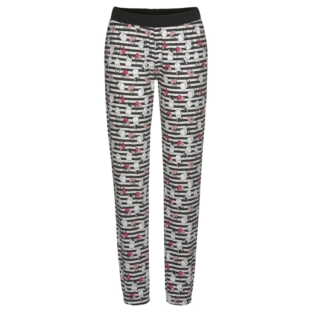 Vivance Dreams Pyjama, mit verspieltem Tierprint