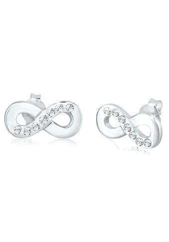 Elli Paar Ohrstecker »Infinity Symbol Liebe Swarovski® Kristalle Silber« kaufen