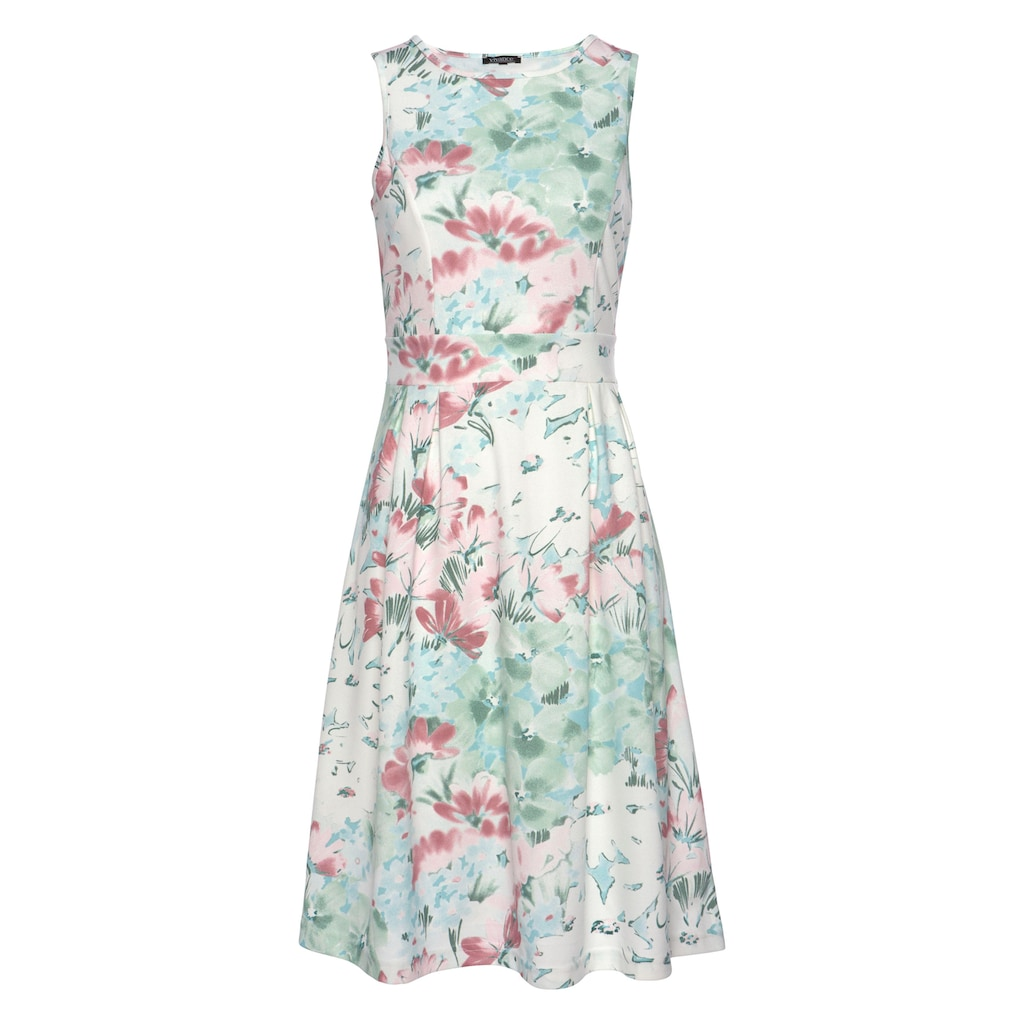 Aniston SELECTED Jerseykleid, mit pastelligem Blumendruck