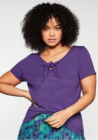 sheego by Joe Browns T-Shirt, mit Knotendetail am Ausschnitt kaufen