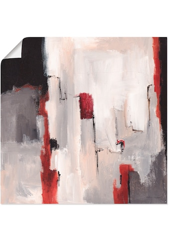Artland Wandbild »Rot an Grau II«, Gegenstandslos, (1 St.), in vielen Größen &... kaufen