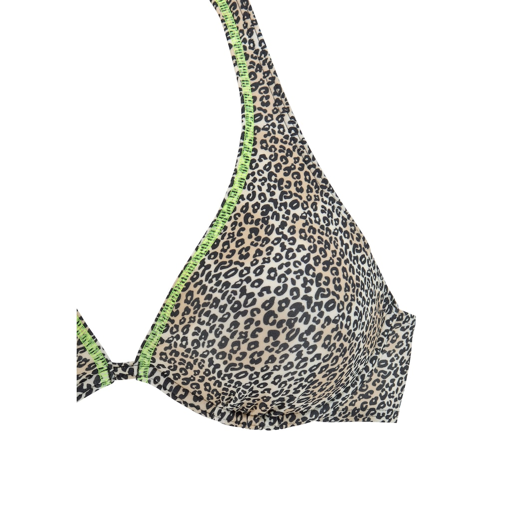 Buffalo Bügel-Bikini, mit neonfarbiger Ziernaht