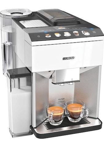 SIEMENS Kaffeevollautomat »EQ.500 integral TQ507D02«, einfache Bedienung, integrierter Milchbehälter, zwei Tassen gleichzeitig kaufen