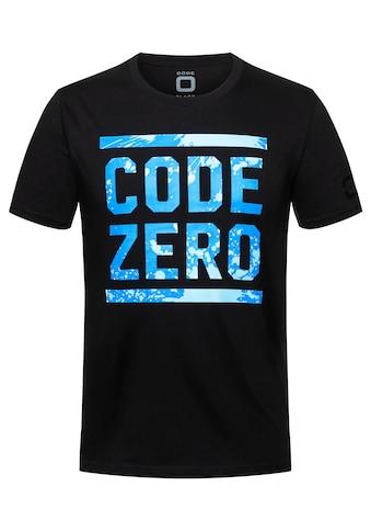 CODE-ZERO T-Shirt »Ocean CODE T-Shirt«, mit Logoaufdruck kaufen