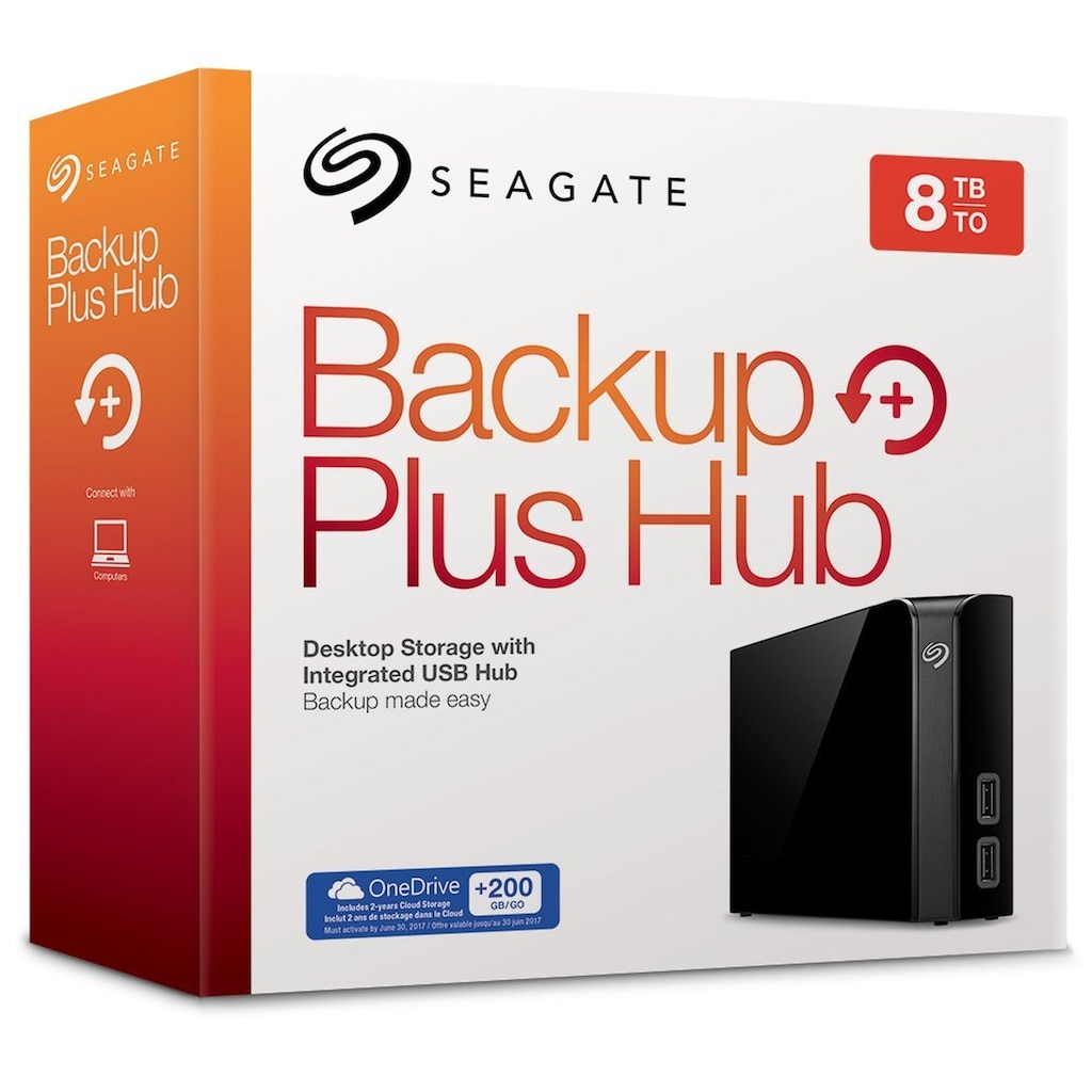 Seagate externe HDD-Festplatte »STEL8000200«, Backup Plus Hub 8 TB