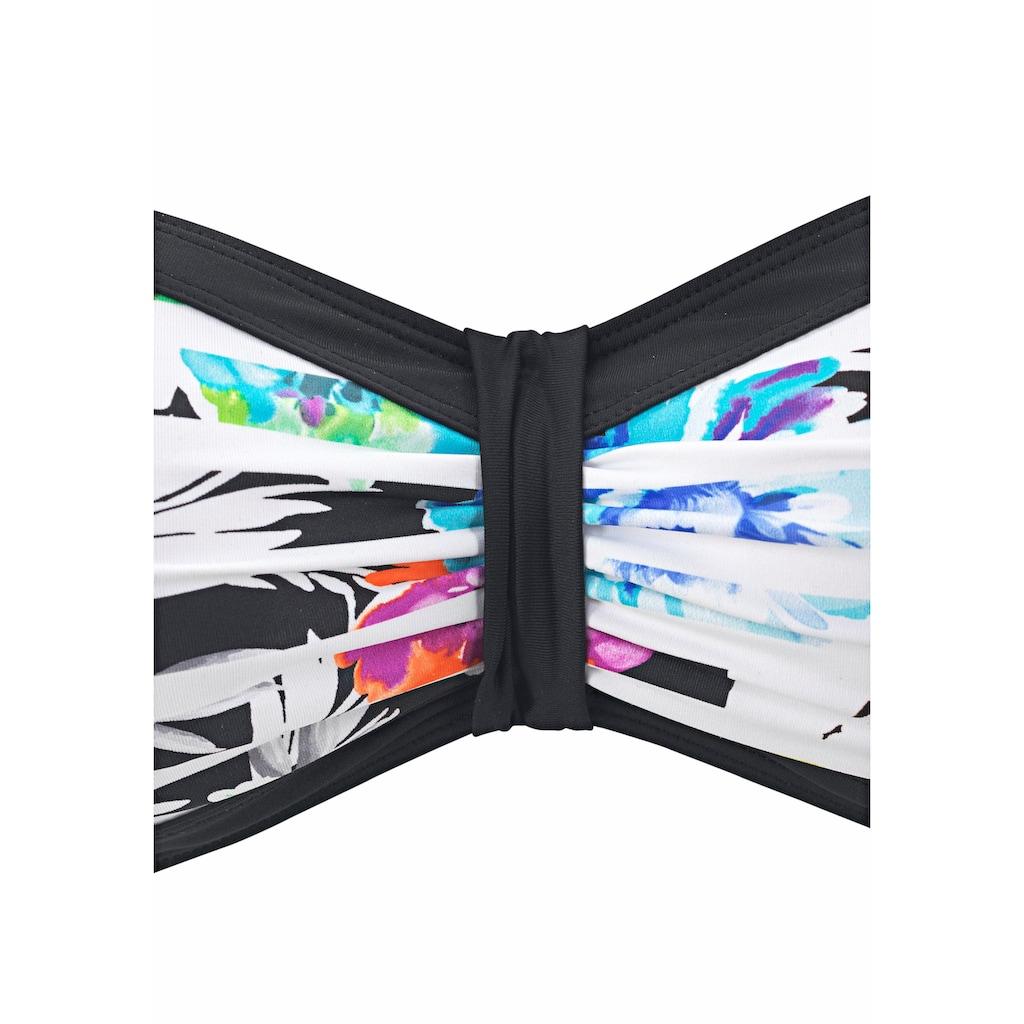 Sunseeker Bandeau-Bikini, mit kontrastfarbener Einfassung