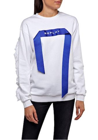 Replay Sweatshirt, mit trendy 3D-Detail kaufen