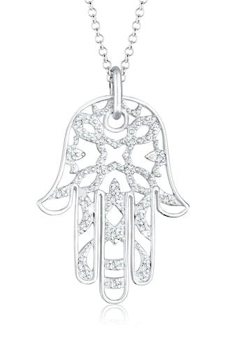 Elli Statementkette »Hamsa Hand Kristalle 925 Silber« kaufen