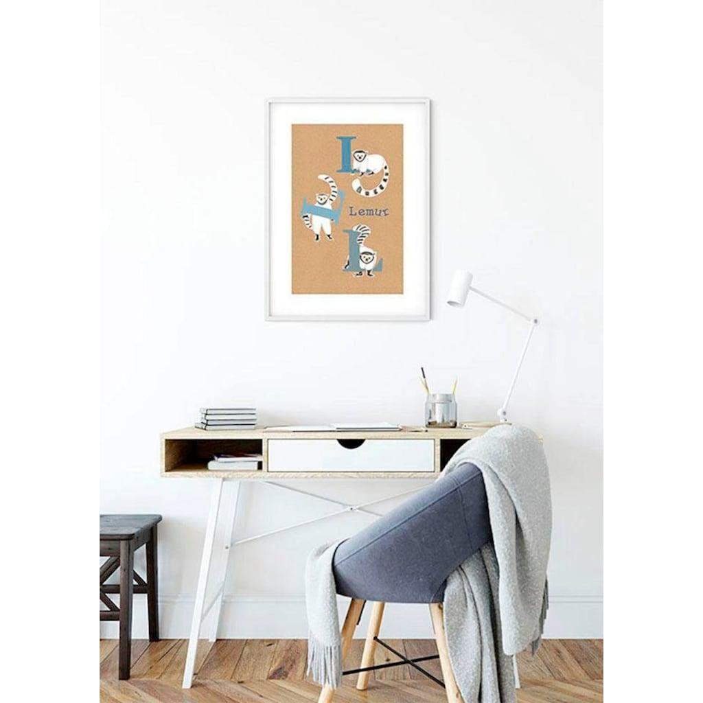 Komar Poster »ABC Animal L«, Buchstaben, Höhe: 40cm
