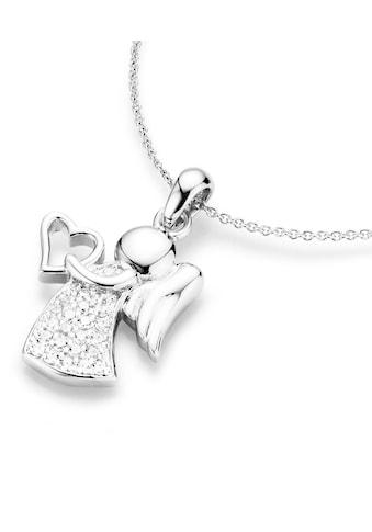 Firetti Kette mit Anhänger »Engel mit Herz«, mit Zirkonia kaufen