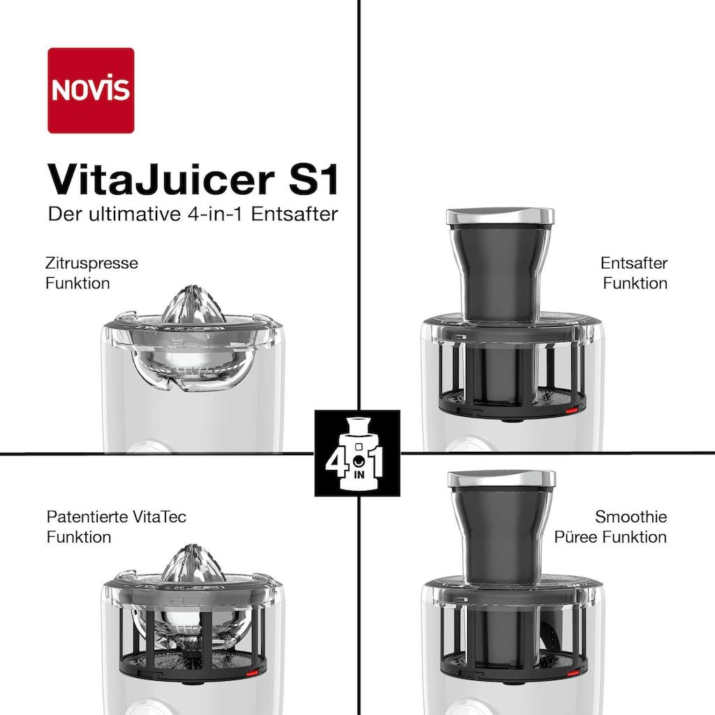NOVIS Entsafter »VitaJuicer S1 weiß«, 240 W