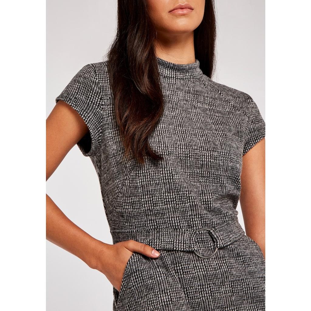 Apricot Etuikleid »Dogtooth Squared Jacquard Dress«, mit Schlüssellochausschnitt