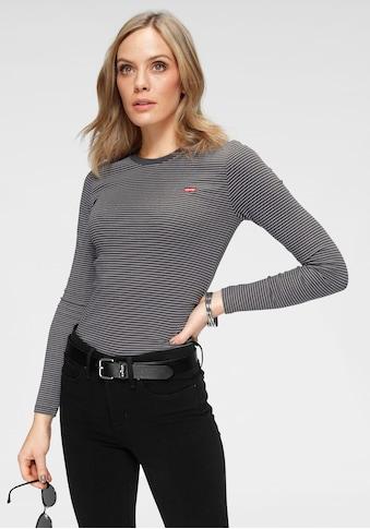 Levi's® Langarmshirt »Baby Tee«, mit kleinem Batwing- Logo kaufen