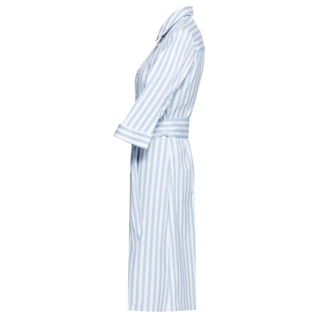 bianca Hemdblusenkleid »DILANA«, im femininen Streifen-Look mit Bindegürtel