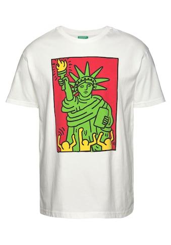 United Colors of Benetton T-Shirt, melierte Optik kaufen